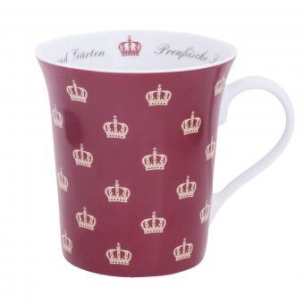 """Tasse """"Preußische Krone"""", rot"""