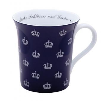 """Tasse """"Preußische Krone"""", blau"""