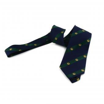 Krawatte ''Preußische Krone'', grün-blau