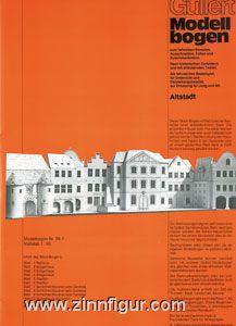 Karton-Modellbaubogen: Altstadt