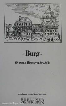 Modellbaubögen: Burg (Diorama Hintergrundmodell)