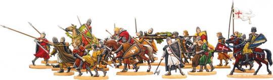 Kreuzritter auf dem Rückzug nach einem Gefecht
