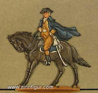 Baron Friedrich v. Steuben zu Pferd