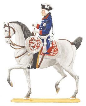 König Friedrich der Große zu Pferd