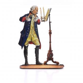 König Friedrich II. als Flötenspieler (nach Menzel) um 1750