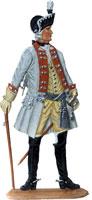 Preußischer Kürassier-Offizier im Galarock, um 1750. 7,5 cm