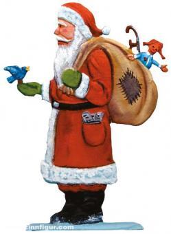Weihnachtsmann mit Vogel