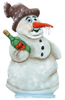 Tipsy Snowman