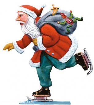 Weihnachtsmann mit Schlittschuh