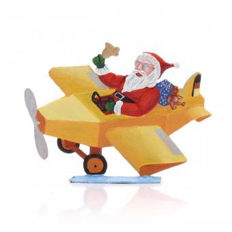 Weihnachtsmann mit Flugzeug