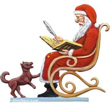 Weihnachtsmann im Schaukelstuhl