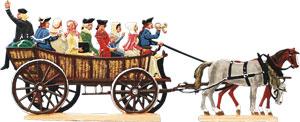 Preußische Postkutsche um 1750