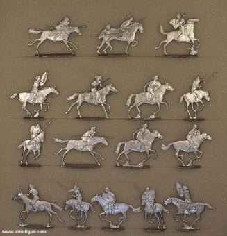 Germanic warriors on horseback, fighting