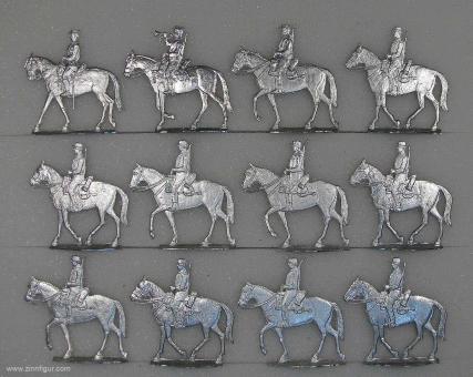 Französische Fremdenlegion zu Pferd im Schritt