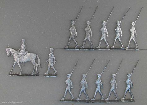 Französische Fremdenlegion zu Fuß im Marsch