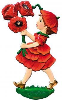 Anhänger: Mohnblumen-Mädchen
