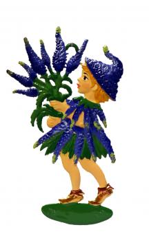 Ornament: Maid with bunch of Veronica