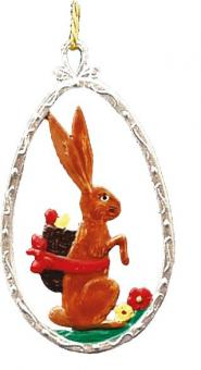 Ornament: Egg with Bunny
