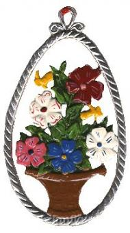 Ornament: Egg with Flower Basket