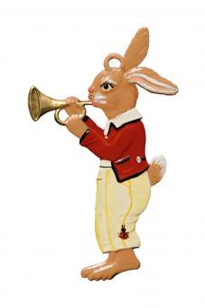 Ornament: Bunny Boy playing Trumpet