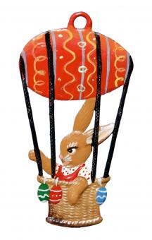 Ornament: Bunny in Hot Air Balloon