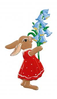 Ornament: Bunny with Bell Flowers