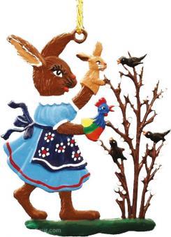 Ornament: Rabbit Girl with Hand Dolls