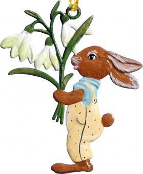 Ornament: Rabbit with Snowdrops