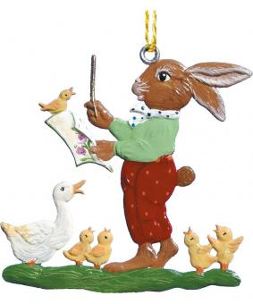 Ornament: Rabbit Conductor leading the Chorus of Ducks