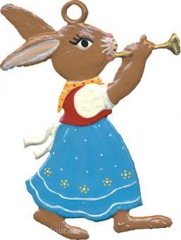 Anhänger: Hasenmädchen mit Trompete