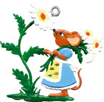 Ornament: Mice with Flowers