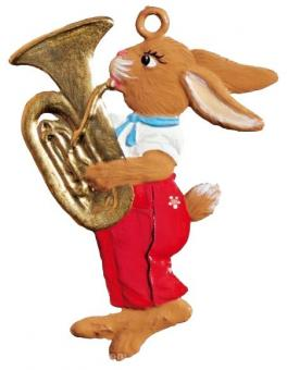 Ornament: Rabbit with Tuba