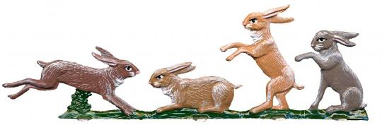 Four playing Rabbits