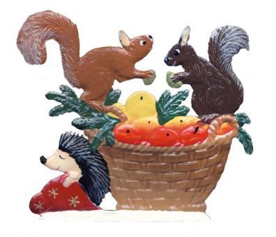 Squirrel at basket