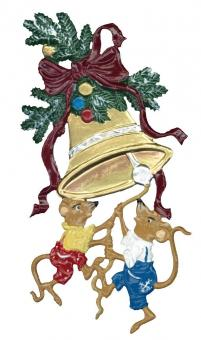 Two Mice on Christmas Bells