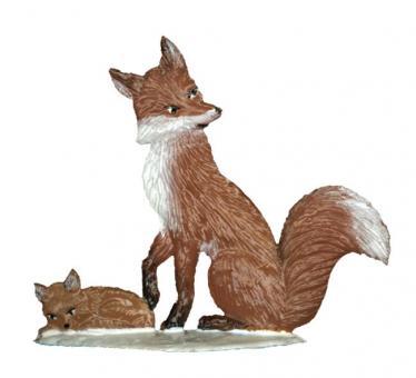 Fuchs Mama im Winter