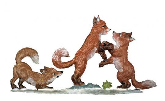 Fuchs Kinder im Winter
