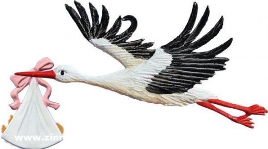 Ornament: Stork flying