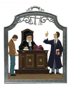 Ornament: Judge, Lawyer, Defendant