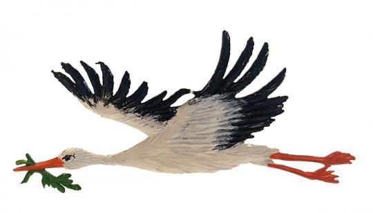 Ornament: Flying Stork