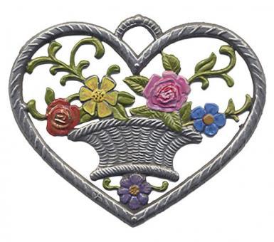 Herz, klein, Blumenkorb