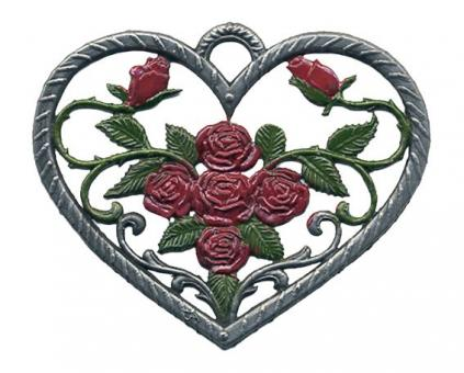 Ornament: Heart with Roses