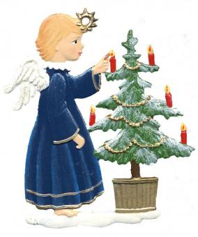 Angel Decorating Tree