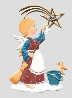 """Anhänger: Engel als """"Sternenputzer"""""""