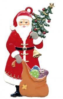 Anhänger: Weihnachtsmann mit Baum und Sack