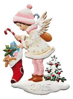 Anhänger: Engel mit Weihnachtsstrumpf