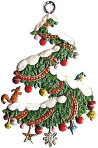 Ornament: Christmas Wreath Spiral