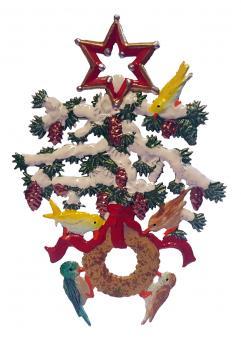Anhänger: Weihnachtsbaum mit Vogelring