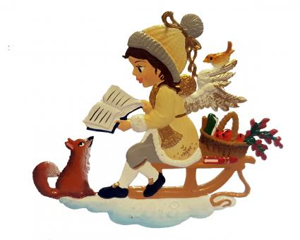 Ornament: Angel Christmas Reading