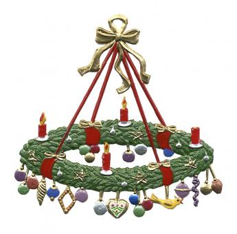 Large Advent Wreath with Gifts